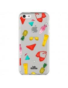 Coque Summer Essentials Ete Essentiel Transparente pour iPhone 5C - kateillustrate