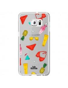 Coque Summer Essentials Ete Essentiel Transparente pour Samsung Galaxy S6 Edge Plus - kateillustrate