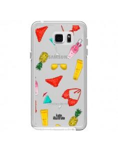 Coque Summer Essentials Ete Essentiel Transparente pour Samsung Galaxy Note 5 - kateillustrate