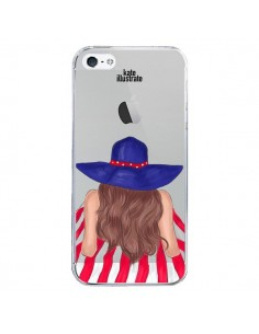 Coque Beah Girl Fille Plage Transparente pour iPhone 5/5S et SE - kateillustrate