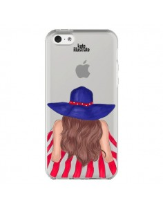 Coque Beah Girl Fille Plage Transparente pour iPhone 5C - kateillustrate