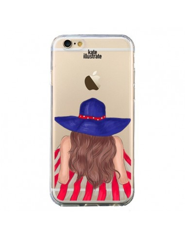 Coque Beah Girl Fille Plage Transparente pour iPhone 6 et 6S - kateillustrate