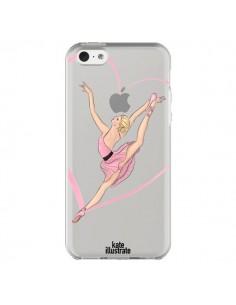 Coque Ballerina Jump In The Air Ballerine Danseuse Transparente pour iPhone 5C - kateillustrate