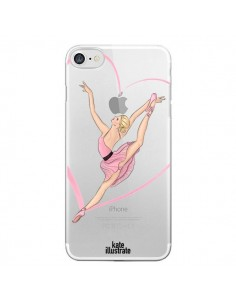 Coque Ballerina Jump In The Air Ballerine Danseuse Transparente pour iPhone 7 - kateillustrate