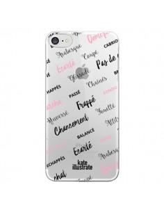 Coque Ballerina Ballerine Mots Transparente pour iPhone 7 - kateillustrate