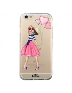 Coque Legally Blonde Love Transparente pour iPhone 6 et 6S - kateillustrate