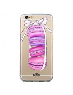 Coque Macarons Pink Purple Rose Violet Transparente pour iPhone 6 et 6S - kateillustrate