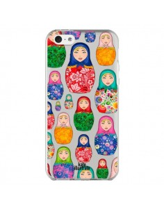 Coque Matryoshka Dolls Poupées Russes Transparente pour iPhone 5C - kateillustrate