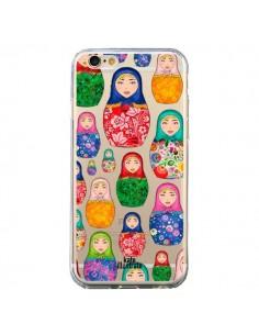 Coque Matryoshka Dolls Poupées Russes Transparente pour iPhone 6 et 6S - kateillustrate