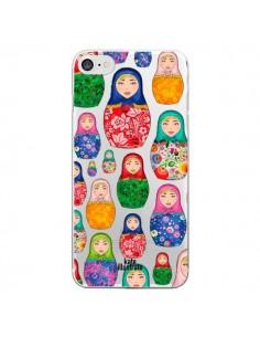 Coque Matryoshka Dolls Poupées Russes Transparente pour iPhone 7 - kateillustrate