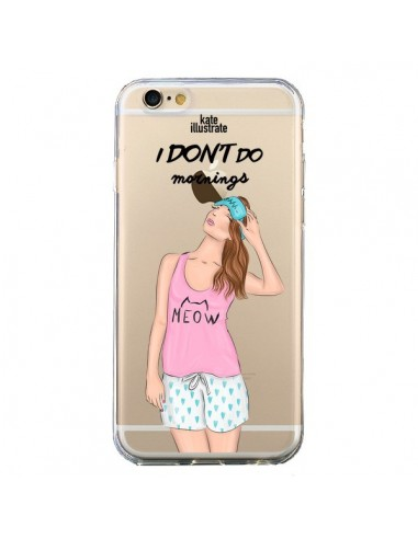 Coque I Don't Do Mornings Matin Transparente pour iPhone 6 et 6S - kateillustrate