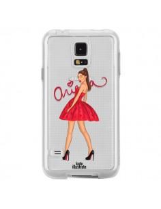 Coque Ariana Grande Chanteuse Singer Transparente pour Samsung Galaxy S5 - kateillustrate