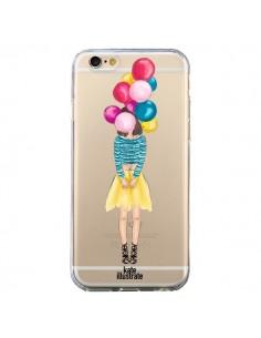 Coque Girls Balloons Ballons Fille Transparente pour iPhone 6 et 6S - kateillustrate