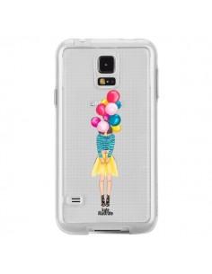 Coque Girls Balloons Ballons Fille Transparente pour Samsung Galaxy S5 - kateillustrate
