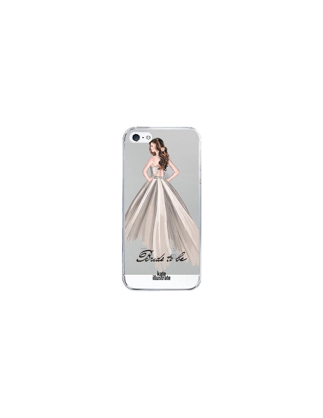 coque iphone 5 5s se bride to be mariee mariage transparente 5s et se kateillustrate