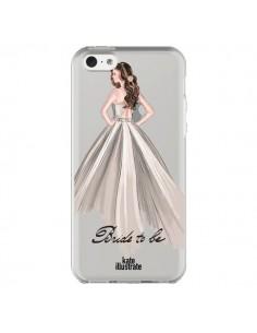 Coque iPhone 5C Bride To Be Mariée Mariage Transparente - kateillustrate