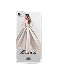 Coque Bride To Be Mariée Mariage Transparente pour iPhone 7 - kateillustrate