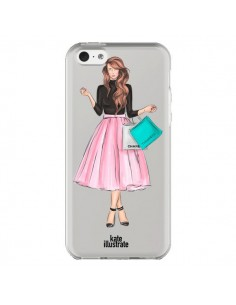 Coque Shopping Time Transparente pour iPhone 5C - kateillustrate