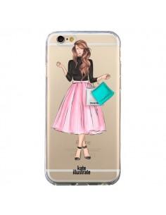 Coque Shopping Time Transparente pour iPhone 6 et 6S - kateillustrate