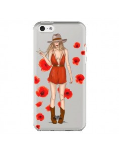 Coque Young Wild and Free Coachella Transparente pour iPhone 5C - kateillustrate