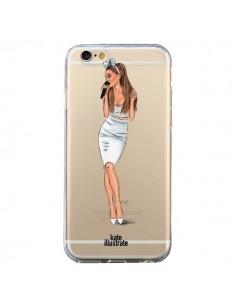 Coque Ice Queen Ariana Grande Chanteuse Singer Transparente pour iPhone 6 et 6S - kateillustrate
