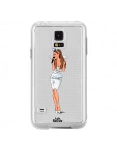 Coque Ice Queen Ariana Grande Chanteuse Singer Transparente pour Samsung Galaxy S5 - kateillustrate