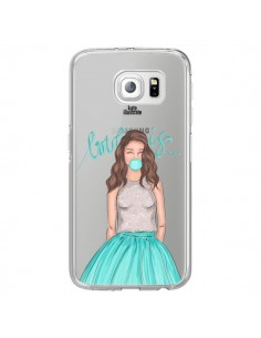 Coque Bubble Girls Tiffany Bleu Transparente pour Samsung Galaxy S6 Edge - kateillustrate