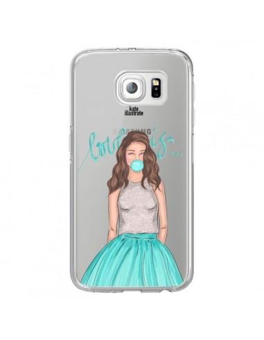 Coque Bubble Girls Tiffany Bleu Transparente pour Samsung Galaxy S6 Edge - kateillustrate