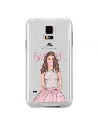 Coque Bubble Girl Tiffany Rose Transparente pour Samsung Galaxy S5 - kateillustrate