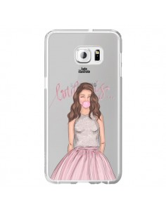 Coque Bubble Girl Tiffany Rose Transparente pour Samsung Galaxy S6 Edge Plus - kateillustrate