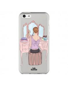 Coque iPhone 5C Vanity Coiffeuse Make Up Transparente - kateillustrate