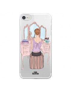 Coque Vanity Coiffeuse Make Up Transparente pour iPhone 7 - kateillustrate