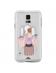 Coque Vanity Coiffeuse Make Up Transparente pour Samsung Galaxy S5 - kateillustrate