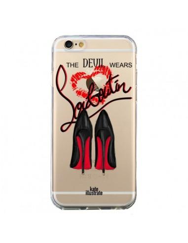 Coque The Devil Wears Shoes Demon Chaussures Transparente pour iPhone 6 et 6S - kateillustrate