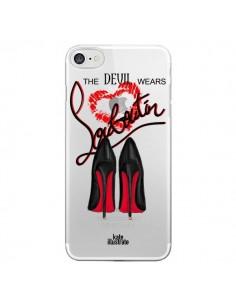 Coque The Devil Wears Shoes Demon Chaussures Transparente pour iPhone 7 - kateillustrate