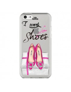 Coque I Work For Shoes Chaussures Transparente pour iPhone 5C - kateillustrate