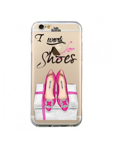 Coque I Work For Shoes Chaussures Transparente pour iPhone 6 et 6S - kateillustrate