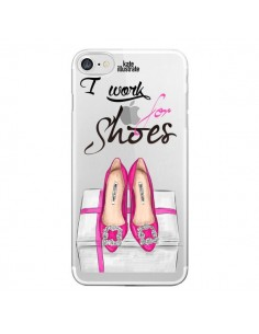 Coque I Work For Shoes Chaussures Transparente pour iPhone 7 - kateillustrate
