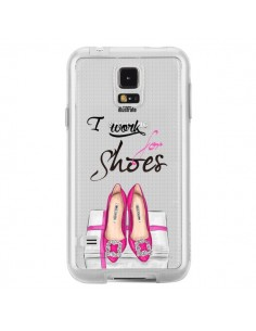 Coque I Work For Shoes Chaussures Transparente pour Samsung Galaxy S5 - kateillustrate