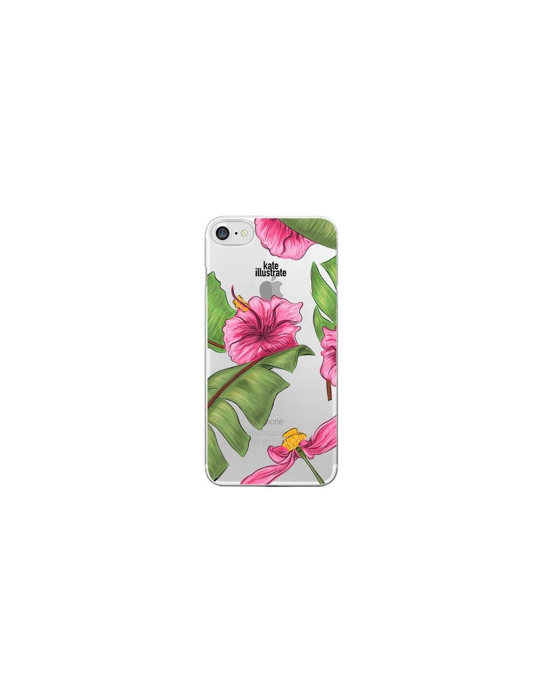 coque iphone 7 noir fleur