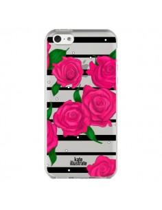 Coque Roses Rose Fleurs Flowers Transparente pour iPhone 5C - kateillustrate
