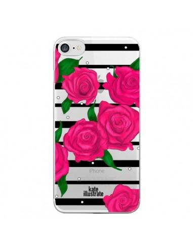 coque iphone 8 fleur rose