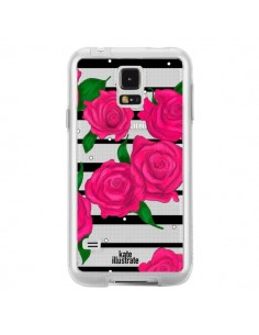 Coque Roses Rose Fleurs Flowers Transparente pour Samsung Galaxy S5 - kateillustrate