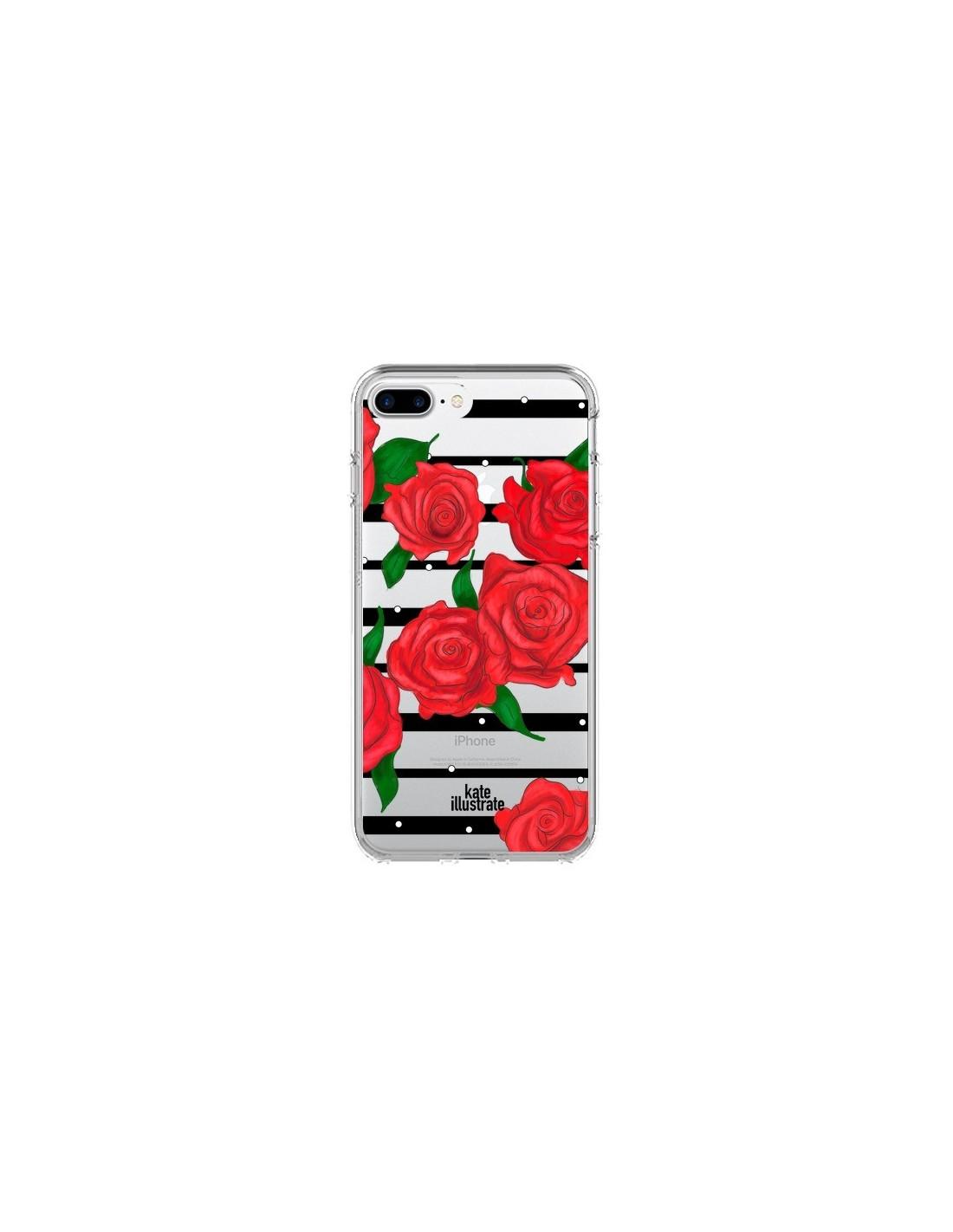 coque iphone 7 plus rouge rose