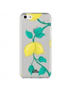 Coque iPhone 5C Lemons Citrons Transparente - kateillustrate