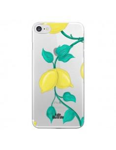Coque Lemons Citrons Transparente pour iPhone 7 - kateillustrate