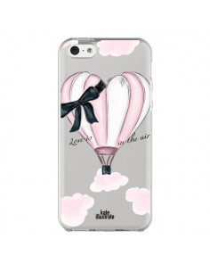 Coque iPhone 5C Love is in the Air Love Montgolfier Transparente - kateillustrate