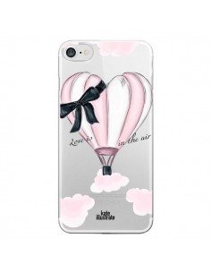 Coque Love is in the Air Love Montgolfier Transparente pour iPhone 7 et 8 - kateillustrate