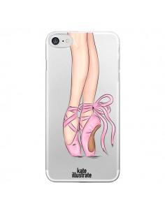 Coque Ballerina Ballerine Danse Transparente pour iPhone 7 - kateillustrate
