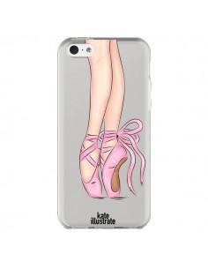 Coque Ballerina Ballerine Danse Transparente pour iPhone 5C - kateillustrate